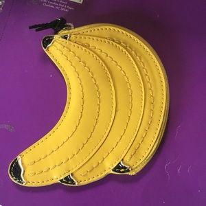 Banana coach coin purse